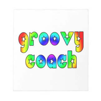 Cool Coaches Birthday Victory Parties Groovy Coach Memo Pad