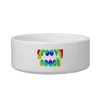 Cool Coaches Birthday Victory Parties Groovy Coach Cat Food Bowls