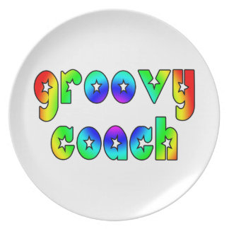 Cool Coaches Birthday Victory Parties Groovy Coach Party Plate