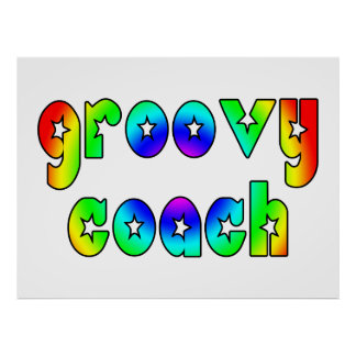 Cool Coaches Birthday Victory Parties Groovy Coach Poster