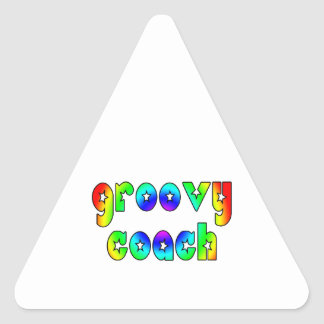 Cool Coaches Birthday Victory Parties Groovy Coach Triangle Sticker