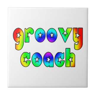 Cool Coaches Birthday Victory Parties Groovy Coach Ceramic Tile