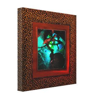 Cool Coffee Bean illusion photo wrap frame Canvas Print