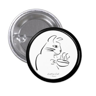 Cool Coffee Cat button