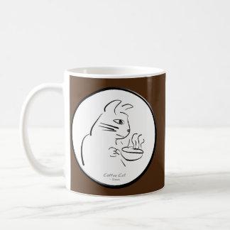 Cool Coffee Cat mug Basic White Mug