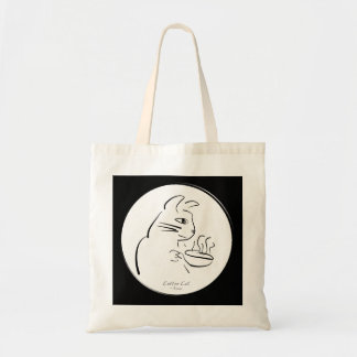 Cool Coffee Cat tote Canvas Bag