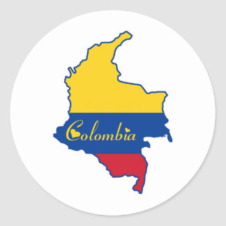 Cool Colombia Classic Round Sticker