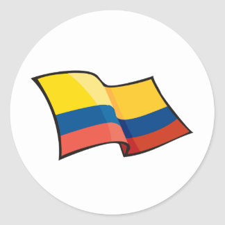 Cool Colombia Flag Round Sticker