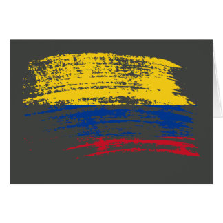 Cool Colombian flag design Greeting Card