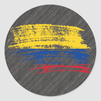 Cool Colombian flag design Classic Round Sticker
