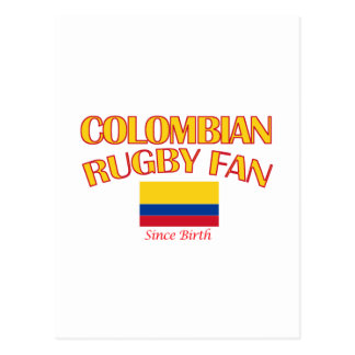cool Colombian rugby fan DESIGNS Postcard