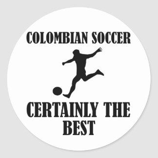 cool Colombian  soccer designs Classic Round Sticker