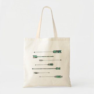 Cool color arrow tote tote bag