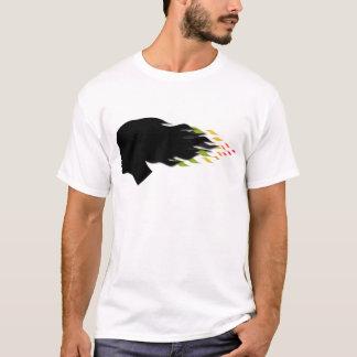 Cool color leaf hair T-Shirt