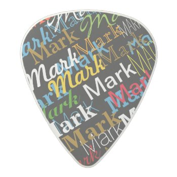 Cool Color Named Acetal Guitar Pick by mixedworld at Zazzle