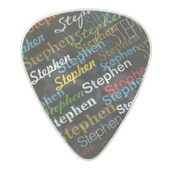 Cool Color Person-name Pearl Celluloid Guitar Pick by mixedworld at Zazzle