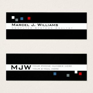 cool color pixels modern professional mini business card