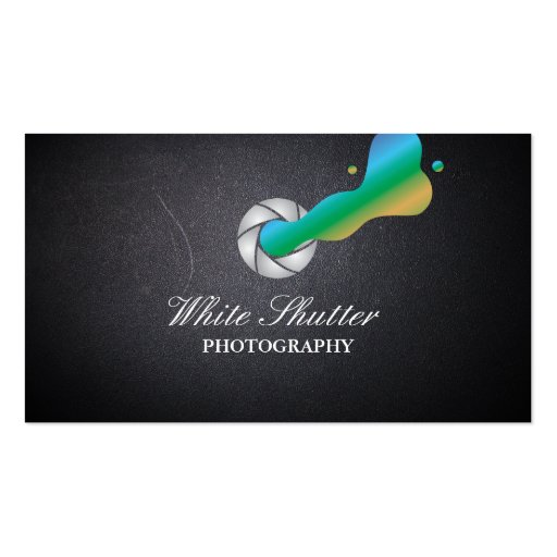 Cool color shutter photography business card zazzle for Cool photography business card