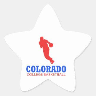 cool Colorado basketball DESIGNS Star Sticker