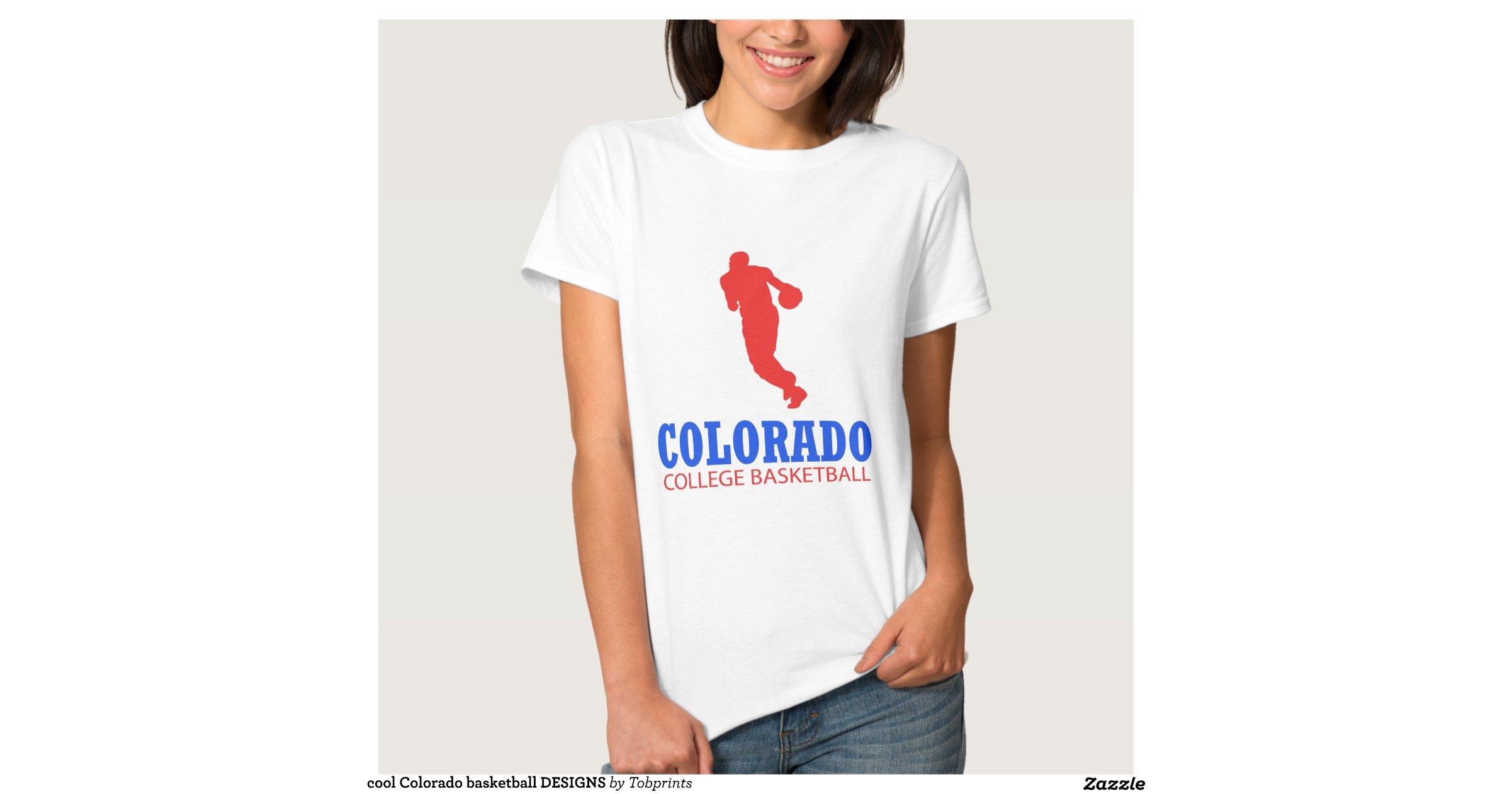 Cool Colorado Basketball Designs Tee Shirt Zazzle
