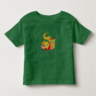 cool colored Chinese dragon Toddler T-shirt