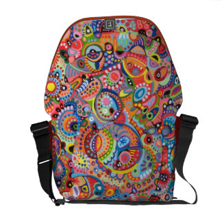 Cool Colorful Abstract Messenger Bag
