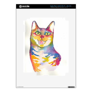 Cool colorful cat iPad 3 decals