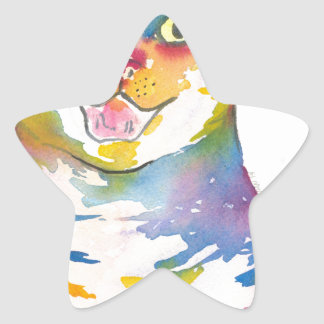 Cool colorful cat sticker