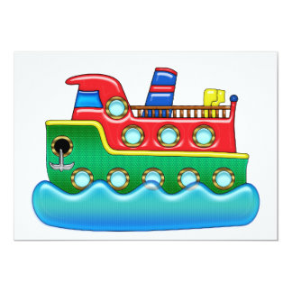 Cool Colorful Cruise Ship Card