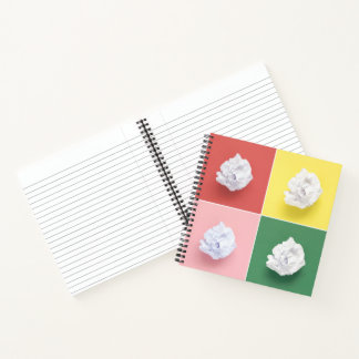 Cool Colorful Crumpled Papers Collage Notebook