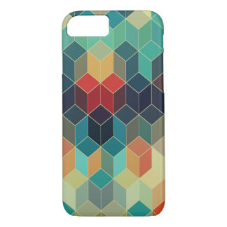 Cool Colorful Cubes Geometric Pattern 5 iPhone 7 Case
