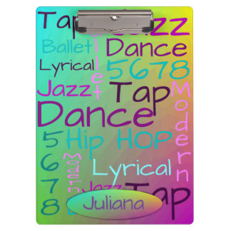 Cool Colorful Dance Personalized Clipboard