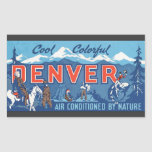 Cool Colorful Denver Air Conditioned By Nature, Vi Rectangle Stickers