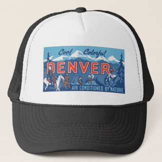 Cool Colorful Denver Air Conditioned By Nature, Vi Trucker Hat