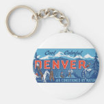 Cool Colorful Denver Basic Round Button Keychain