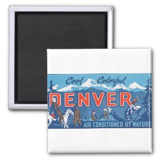 Cool Colorful Denver Refrigerator Magnets