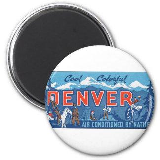 Cool Colorful Denver Refrigerator Magnet