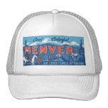 Cool Colorful Denver Travel Poster Trucker Hat
