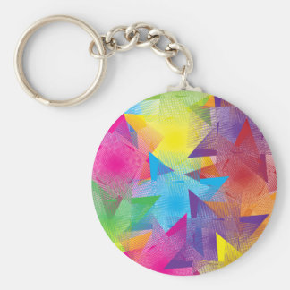 Cool Colorful Design Basic Round Button Keychain