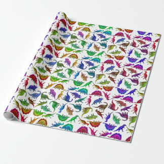 Cool Colorful Dinosaurs Wrapping Paper