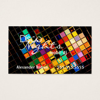 Cool Colorful DJ-Indestructible Business Card