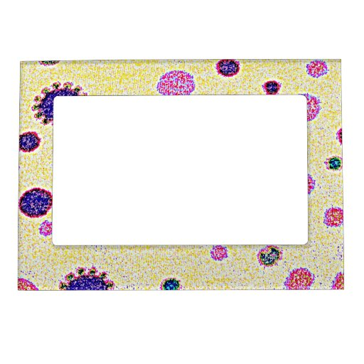Cool Colorful Dots Fun Girly Pattern Magnetic Picture