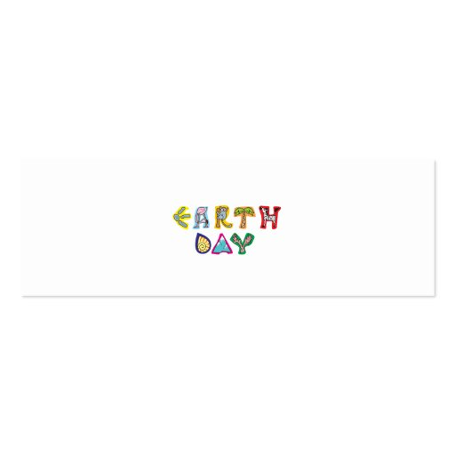 Cool Colorful Earth Day Business Cards