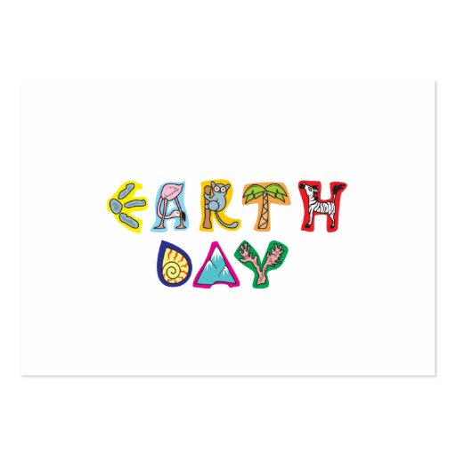 Cool Colorful Earth Day Business Card Templates