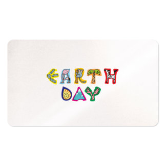 Cool Colorful Earth Day Business Card