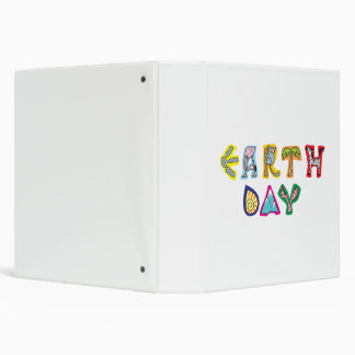 Cool Colorful Earth Day Custom 3 Ring Binder