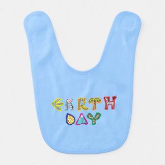 Cool Colorful Earth Day Custom Baby Bib Blue Boy