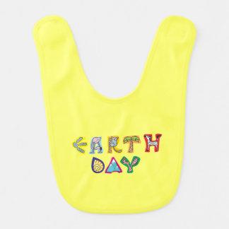 Cool Colorful Earth Day Custom Baby Bib Yellow