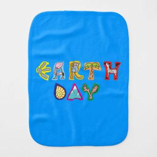 Cool Colorful Earth Day Custom Baby Burp Cloth Boy