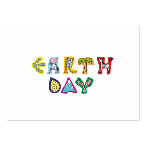 Cool Colorful Earth Day Custom Business Card